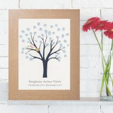 Christening Fingerprint Tree - Personalised Christening Keepsake Alternative To A Guest Book